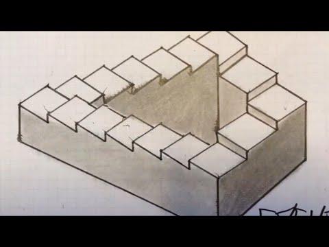 comment dessiner un escalier infini d fi 1 youtube. Black Bedroom Furniture Sets. Home Design Ideas