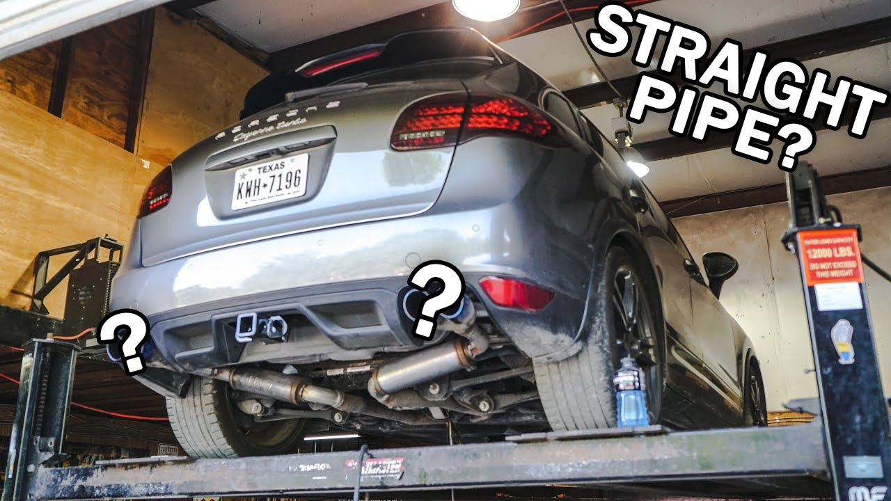 new exhaust for the cayenne turbo