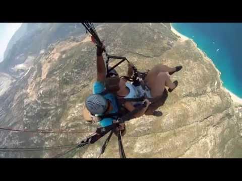 Фантастический полет на параплане в Турции.