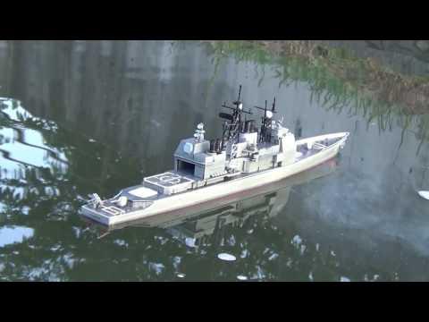 プラモデルラジコン化計画にVLSからミサイル発射追加 USS CG-47 タイコンデロガ 改