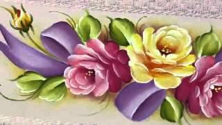 Curso de pintura em tecido frutas em panos de prato