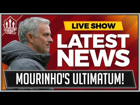 MOURINHO's Ultimatum To MANCHESTER UNITED! Man Utd News