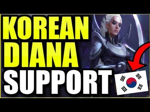 THIS NEW KOREAN DIANA SUPPORT BUILD IS 1000% BROKEN! (SECRET OP) – League of Legends