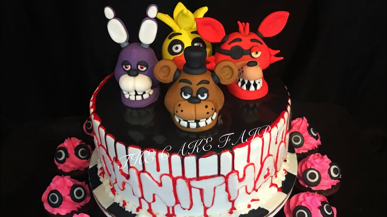 Five Nights At Freddy S Cake Youtube