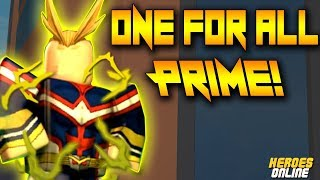 [NEW CODE!] ONE FOR ALL PRIME SHOWCASE | HEROES ONLINE | ROBLOX | NEW QUIRK!!