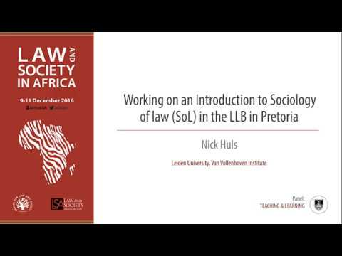 Nick Huls: Working on an Introduction to sociology of Law in the LLB in Pretoria