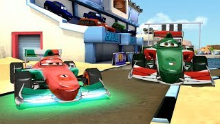Green Envy OR Neon Francesco Bernoulli VS Lightning McQueen Disney Cars Speed Racing Gameplay