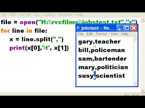 Python - Open, read, display a text file - Video website