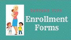 Daycare registration forms! How I put together Enrollment packets for my home daycare.