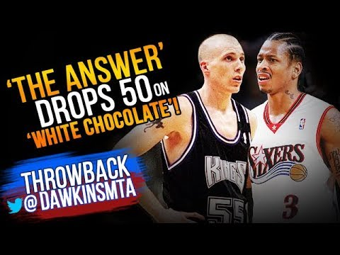 Allen Iverson Drops 50 On 'White Chocolate' Jason Williams & Kings - 2000.02.06 - AI With 50-9-6!