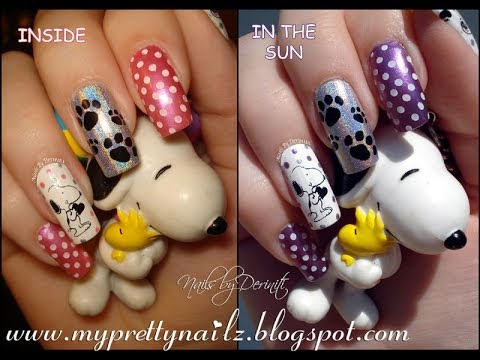 Fun Color Changing Snoopy Nail Art Design Easy Born Pretty Store DIY  Stamping Tutorial - Fun Color Changing Snoopy Nail Art Design Easy Born Pretty Store DIY