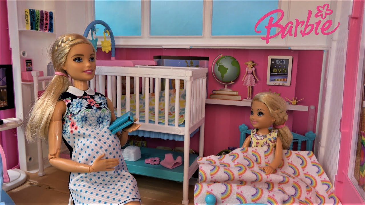 Barbie and Ken in Barbie Dream House w Barbie Sister Chelsea Lego Land Village and Jungle Dream E.6