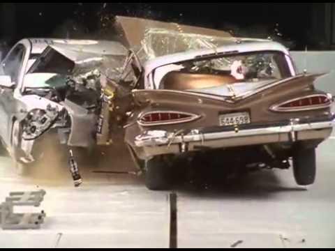 1959 Chevrolet Bel Air vs. 2009 Chevrolet Malibu crash test.