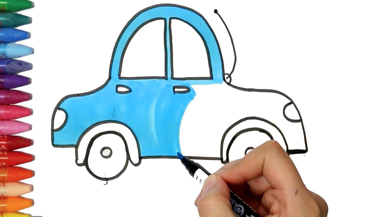 Araba Çizim Yapma | Nasıl Çizilir | Çocuk ve Bebek için Çiziyorum Boyuyorum