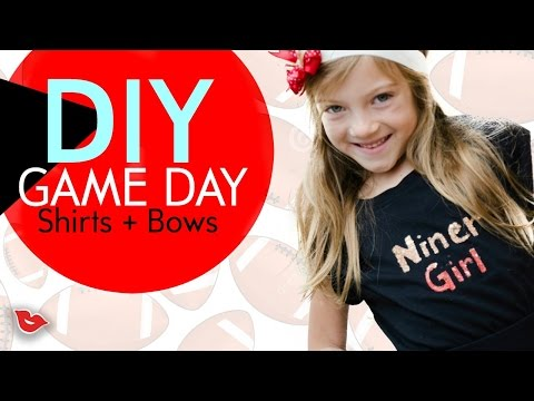 DIY NFL Game Day Shirts & Bows For Kids | Tay from Millennial Moms