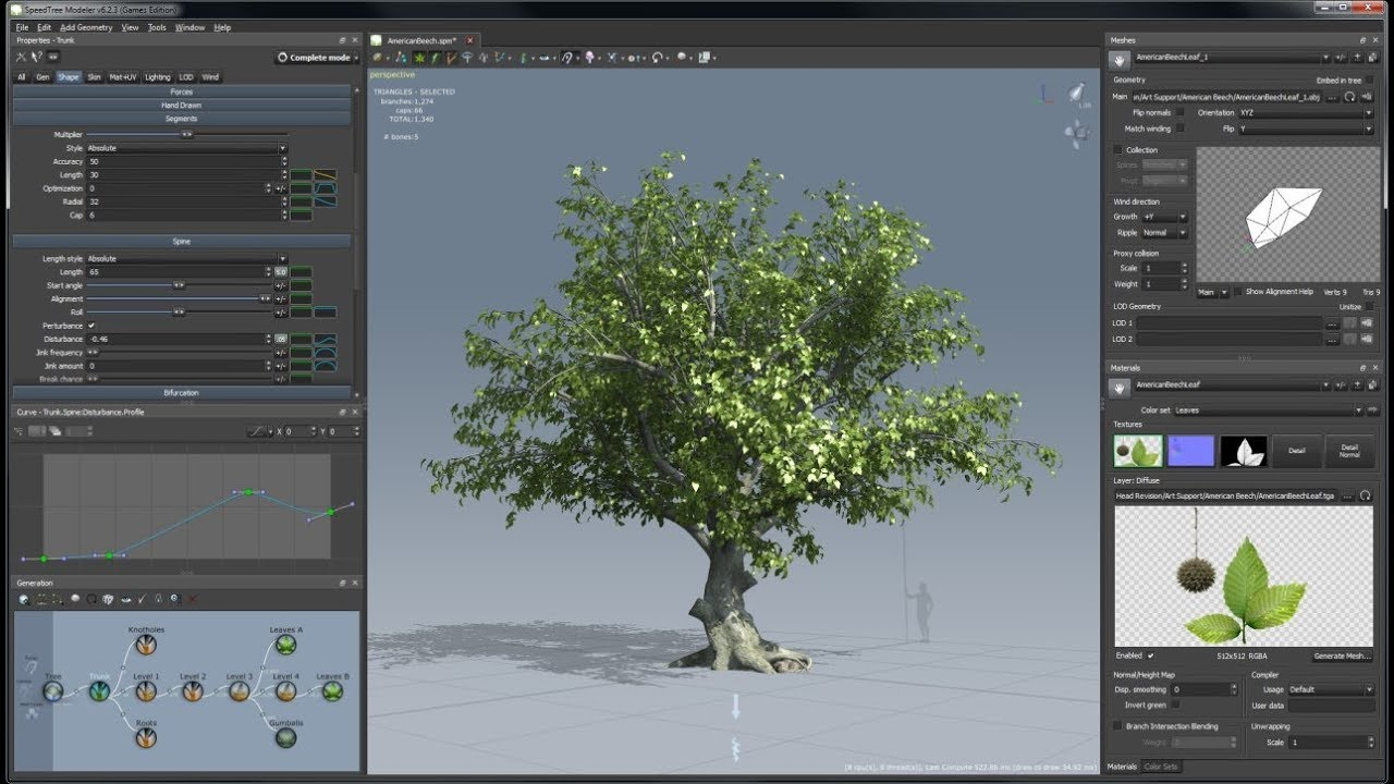 HOW TO CREATE GROWTH ANIMATION PLANT IN SPEEDTREE CINEMA AND EXPORT  ANIMATION IN 3DS MAX