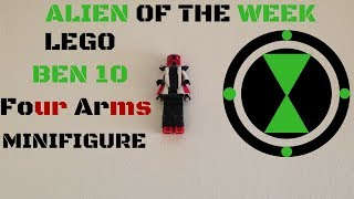 How to make a Lego Ben 10 Four Arms Minifigure (Alien of the Week)(Cool Lego builds and ideas)