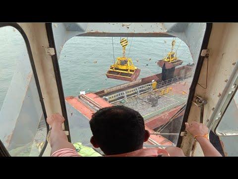 Cren operator || IHI cren || bulk carrier ship || mumbai india