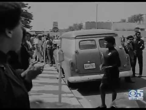 A Live Black Panthers Free Huey Rally Filmed in Aug 1968