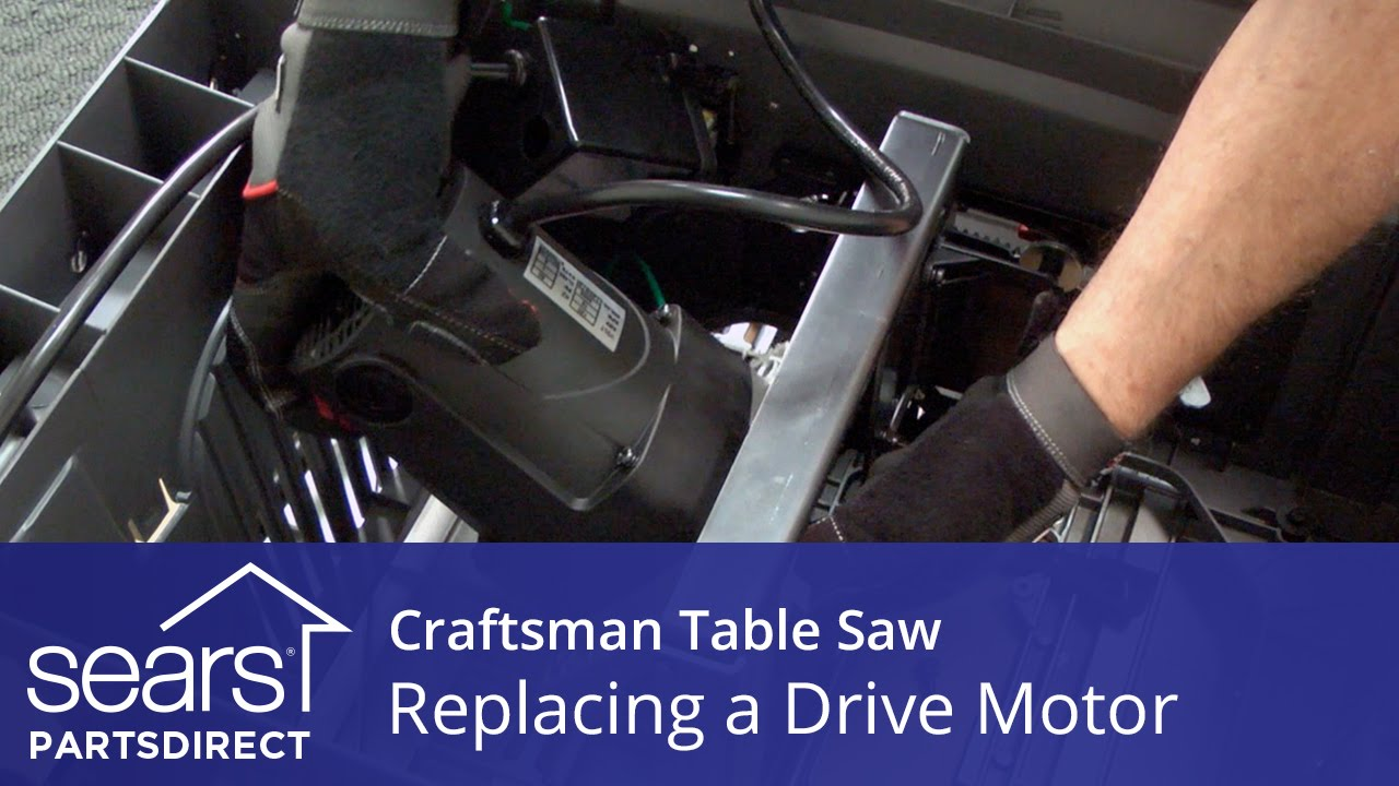 how to replace a craftsman table saw drive motor [ 1280 x 720 Pixel ]