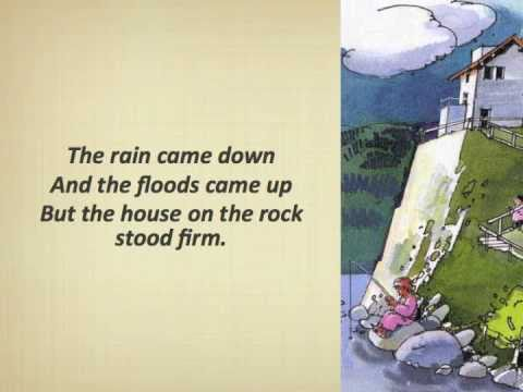 The Wise Man Built His House Upon The Rock (with Lyrics)   YouTube