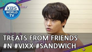 Treats From Friends: N(Vixx)'s 'Inkigayo' sandwich [Happy Together/2018.10.25]