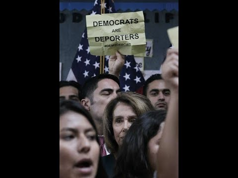 ILLEGAL IMMIGRANTS CRASH NANCY PELOSI'S DACA CONFERENCE WOW !!! DACA DOSE NOT LOOK GOOD NOW.......