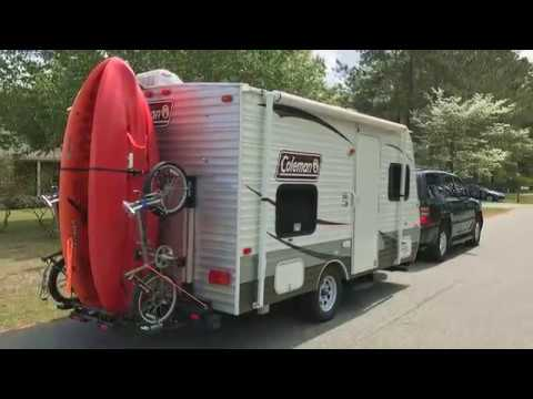 Diy Dual Kayak Bike Carrying Rack For Our Rv Camping Trailer Youtube