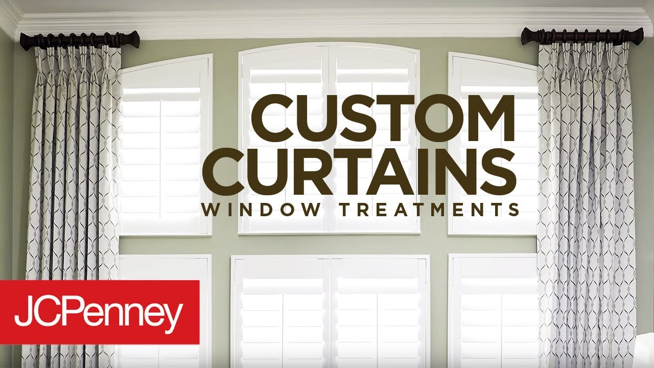 custom curtains and drapes for large windows jcpenney in home decorating