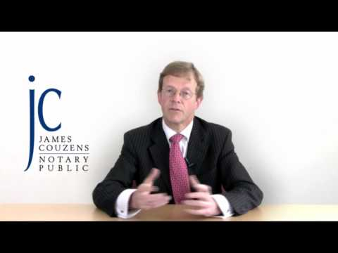 What is an Apostille or Legalised Document - Notary Public James Couzens gives advice