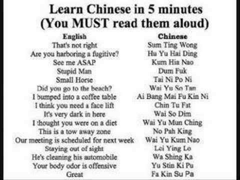 Learn Chinese in 5 mins