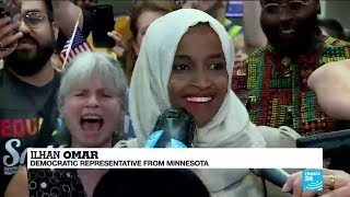 US Rep. Ilhan Omar reacts to Trump's racist remarks