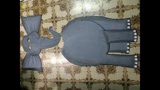 Elephant pet animal fancy dress handmade costume for kids / diy / fancy dress for kids
