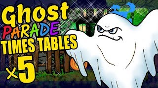 Halloween Ghost Teaching Multiplication Times Tables x5 Educational Math Video for Kids