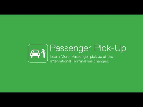 Passenger Pick-Up at the International Terminal is changing - FROM 23 NOV 2017