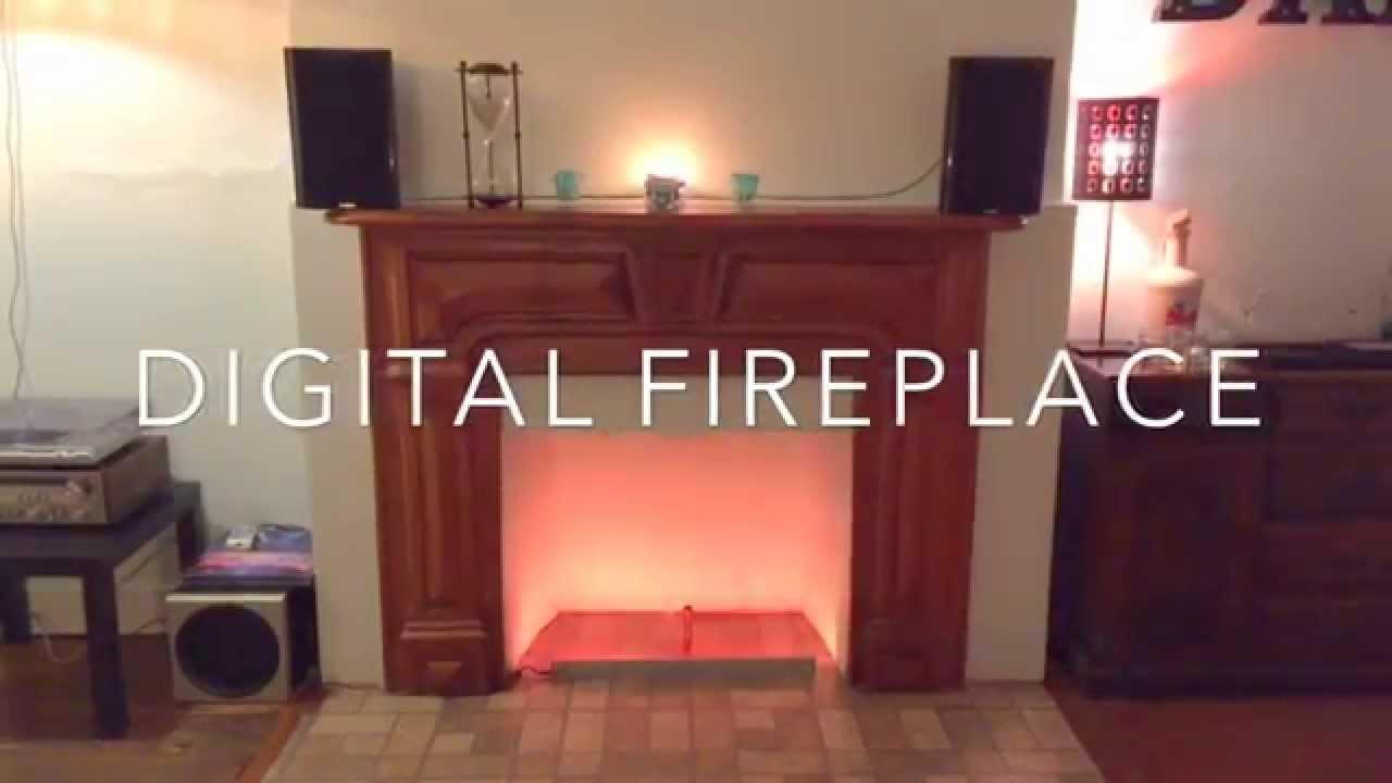 Digital Fireplace - YouTube
