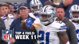Top 4 Fails (Week 11) | Shek Report | NFL