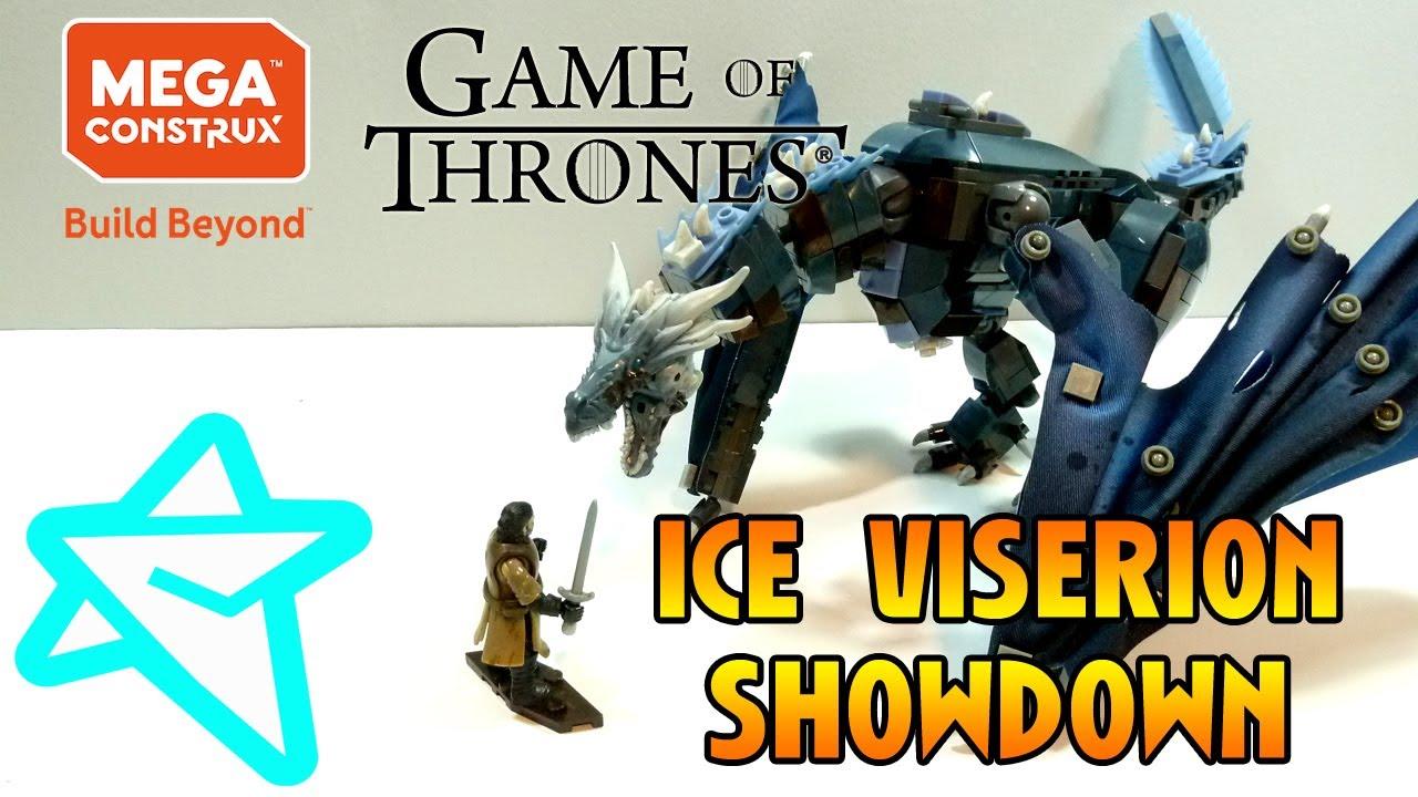 Mega Construx Game of Thrones Ice Viserion Showdown Building Set