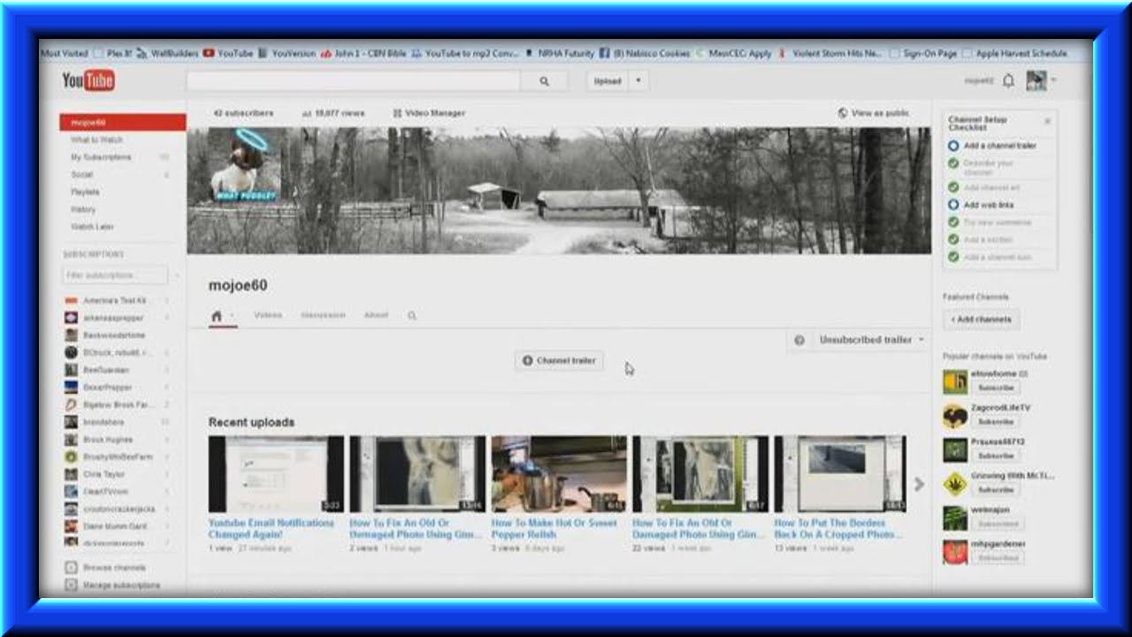 How To Set Up Sections On Your Youtube Channel Homepage ... - photo#49