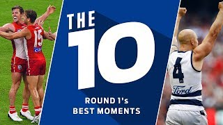 The 10: Best moments | Round 1, 2018 | AFL