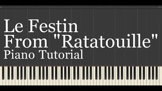"""Le Festin (From Ratatouille) Piano Tutorial from my NEW Disney Piano Collection"""" Covered by kno"""