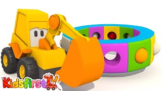 Kids Color Construction: Excavator Max's Carousel: CLOTHES - 3d Monster Machines