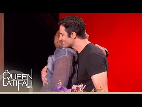 Gilles Marini Surprises Queen Latifah With Flowers