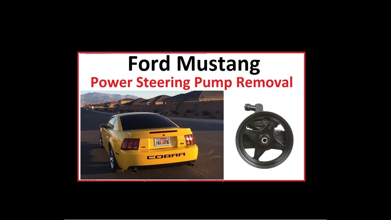 Ford Mustang Power Steering Pump Removal