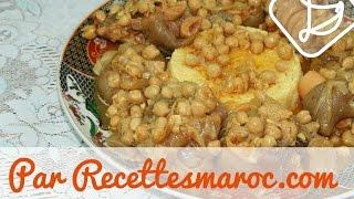 Pieds de Veau & Pois Chiches - Cow's Feet & Chick Peas - الكرعين أو الهركمة المغربية