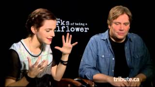 Emma Watson & Stephen Chbosky - Perks of Being a Wallflower Interview with Tribute at TIFF 2012