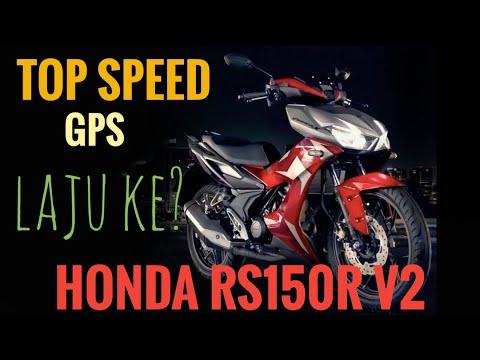 RS150R V2 : TOPSPEED (GPS) HONDA RS150R V2  BARU / WINNER X. LAJU KE GENG???