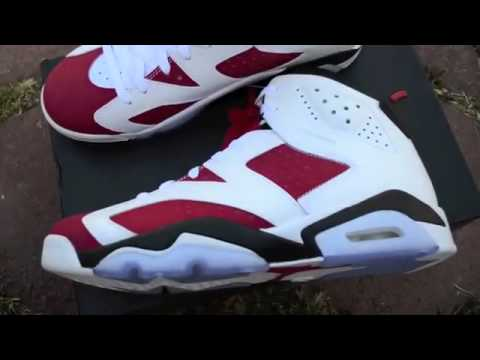 cheap Jordan 6 Carmines price buy from china unboxing review on cheapbestmall net mp4