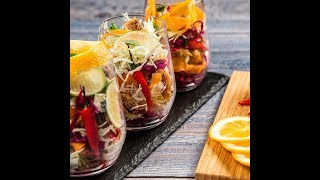 Cabbage and Fig Salad in a Glass