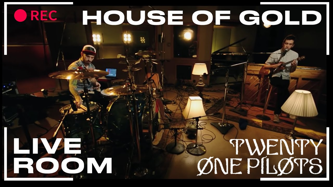 twenty one pilots house of gold captured in the live room youtube
